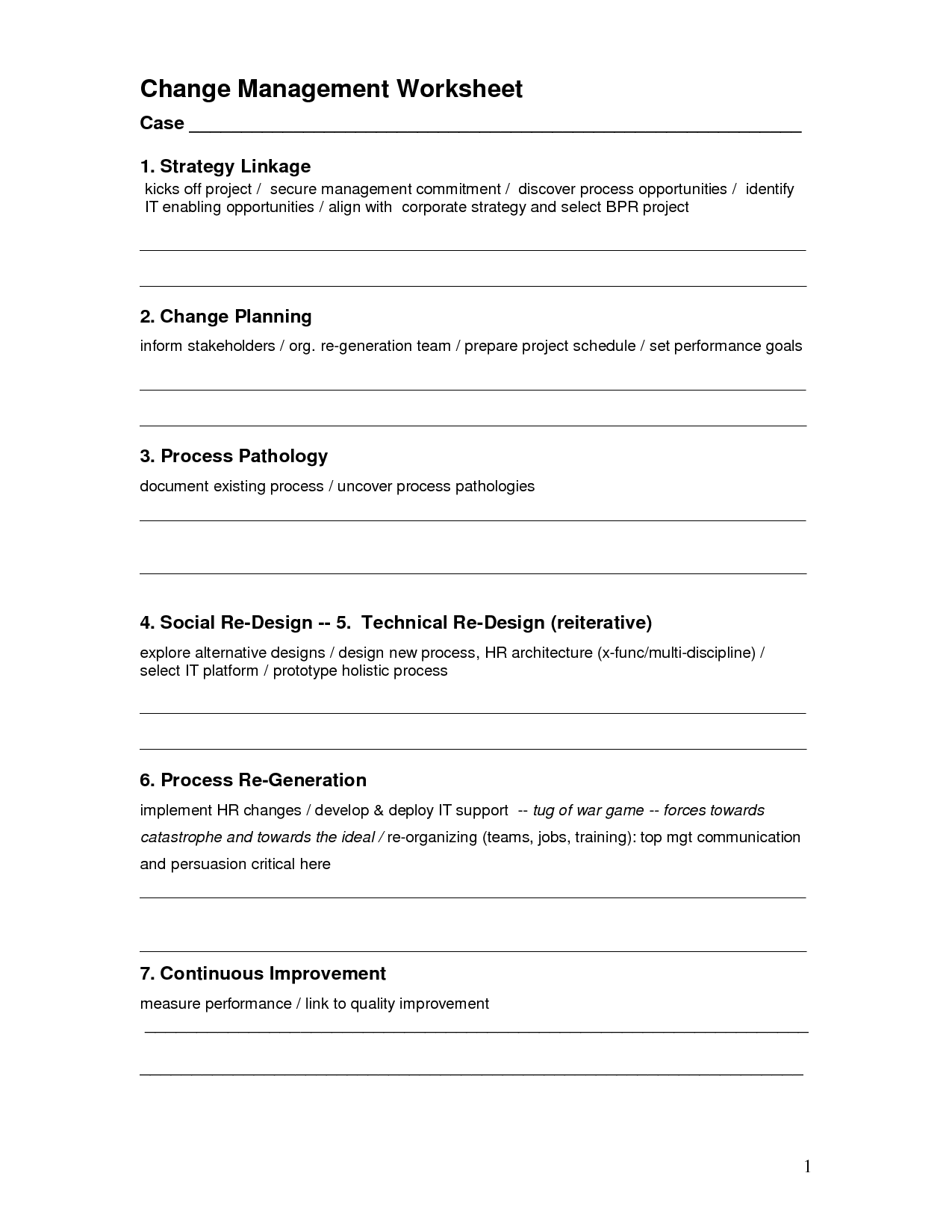 Change Plan Worksheet Substance Abuse