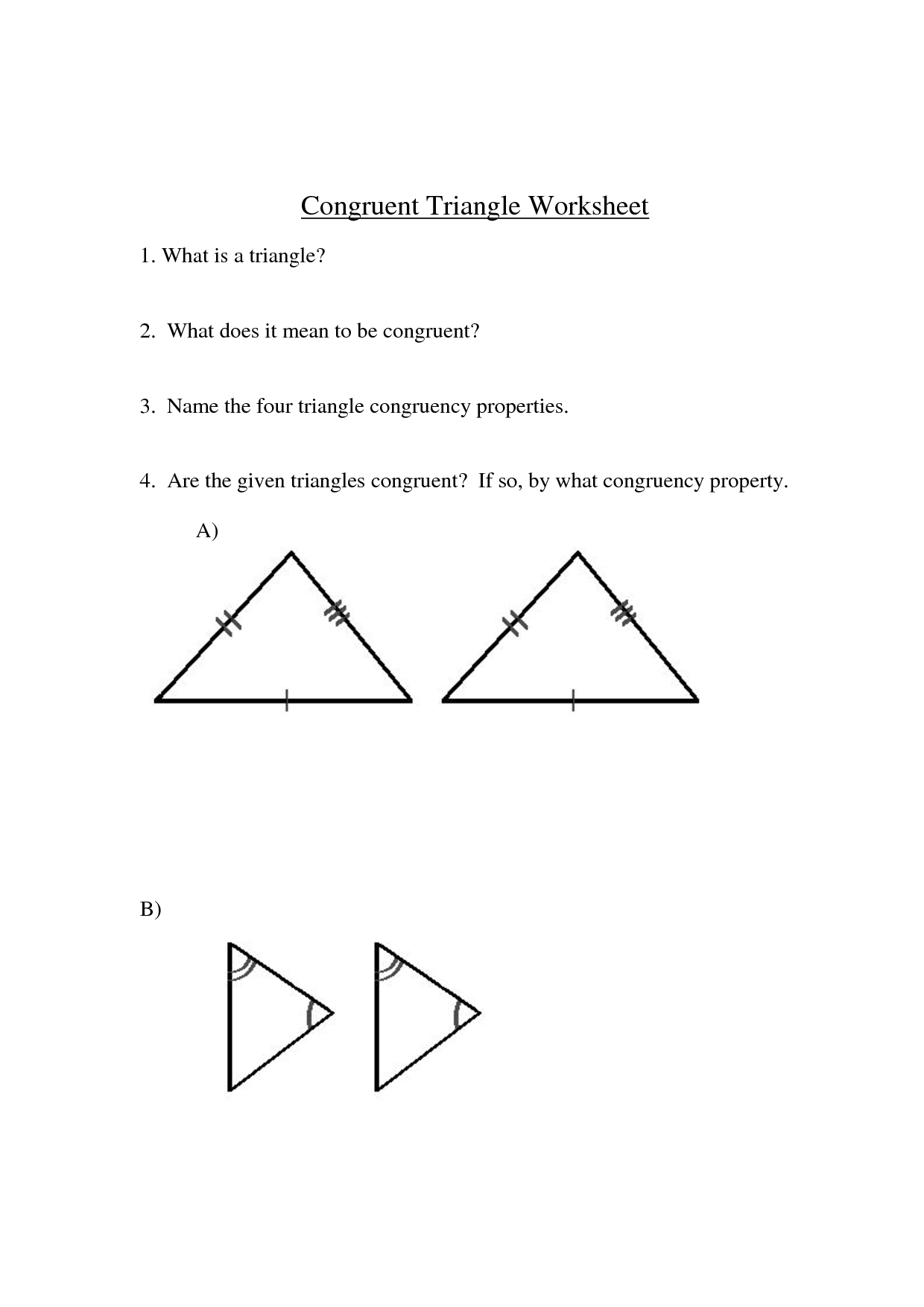 13 Best Images Of Congruent Shapes Worksheets 3rd Grade