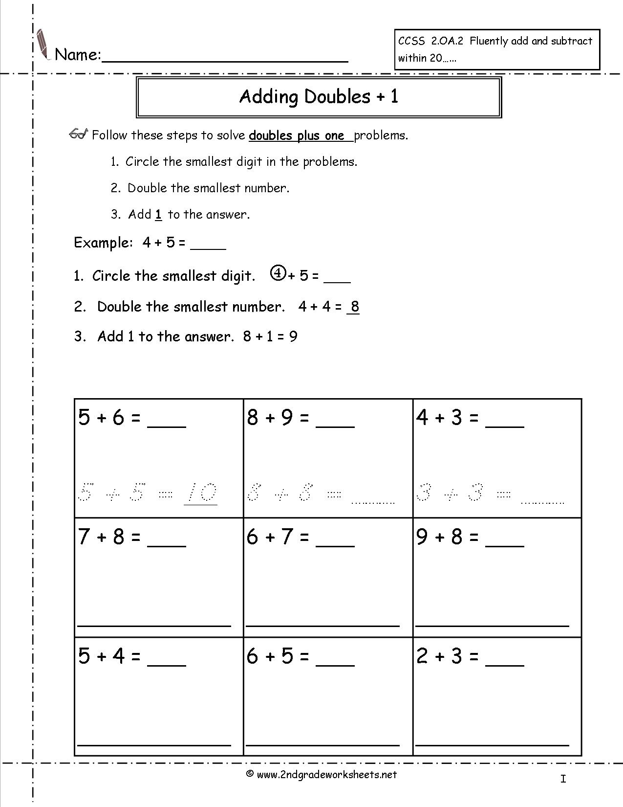 15 Best Images Of Plus 2 Addition Worksheets