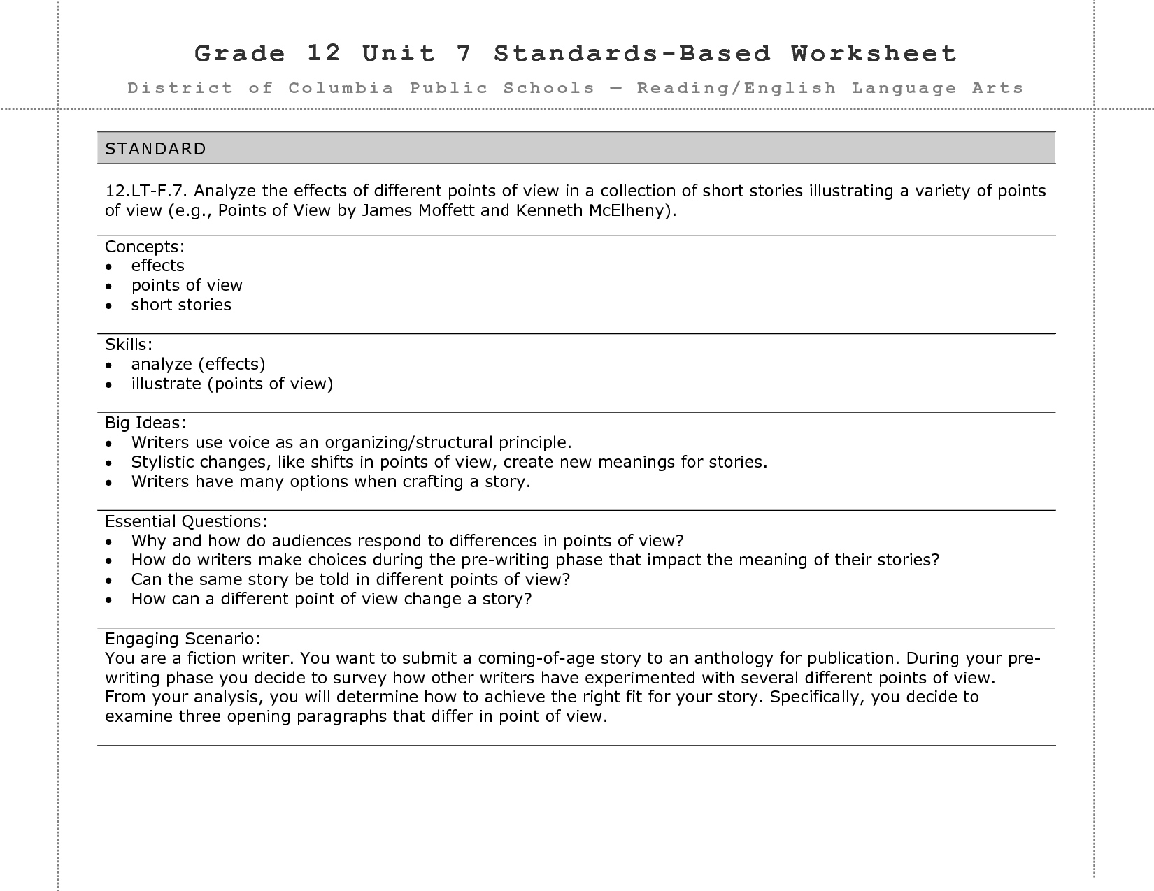 9 Best Images Of 12 Grade Worksheets
