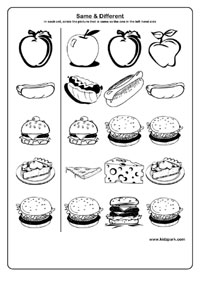 12 Best Images of Objects That Are The Same Worksheet