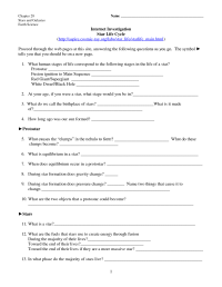 14 Best Images of Evolution Of Stars Worksheet Answers