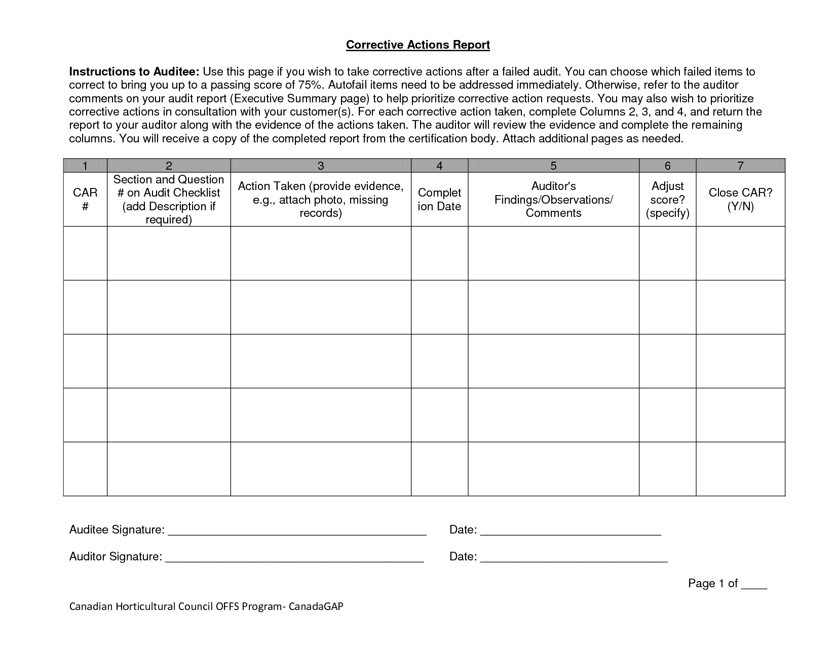 Sample Action Plan Worksheet Excel
