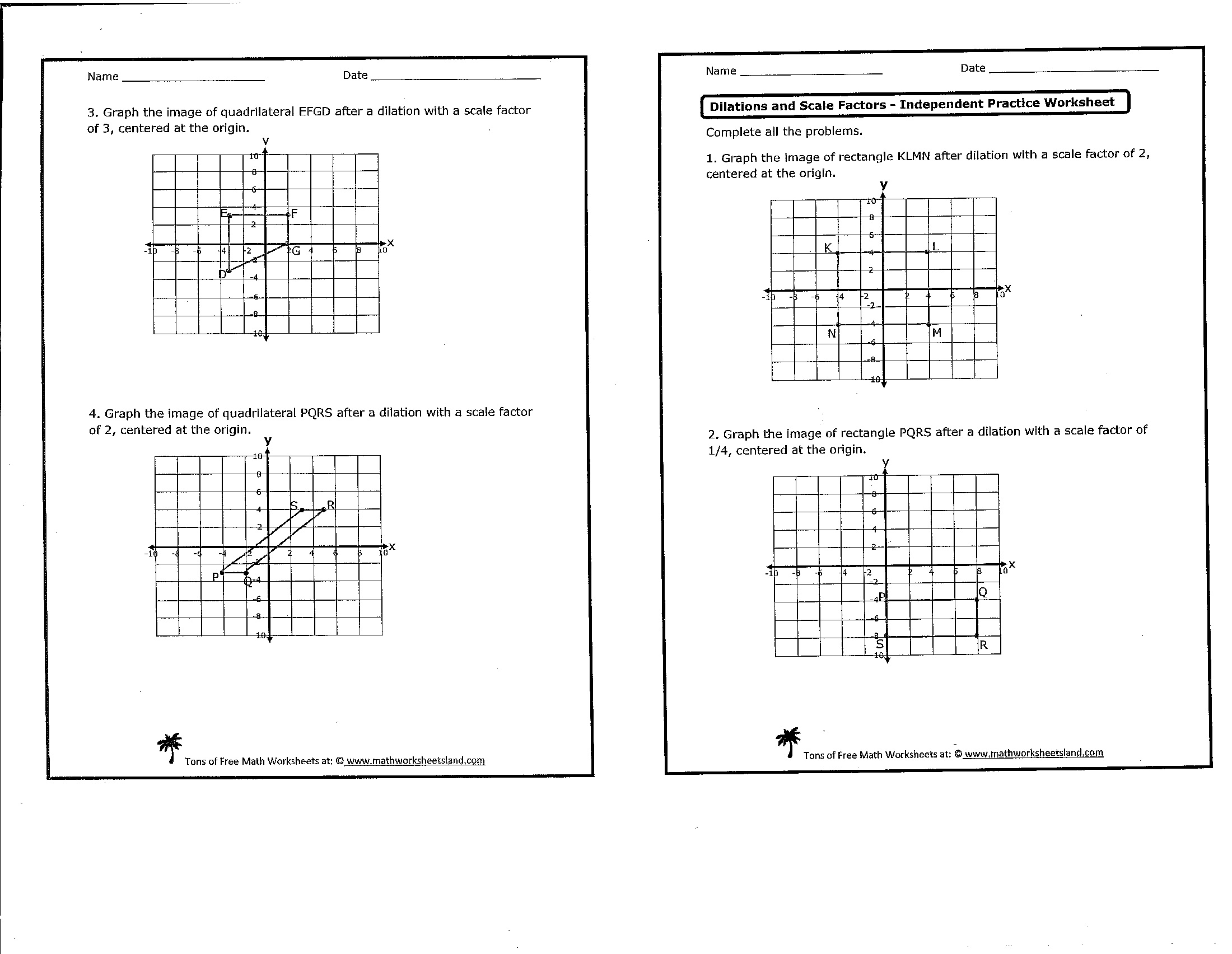 Worksheet Dilation Math Worksheets Grass Fedjp Worksheet Study Site