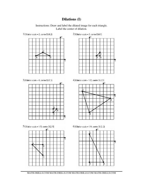 small resolution of Dilations Worksheet Math Island   Printable Worksheets and Activities for  Teachers