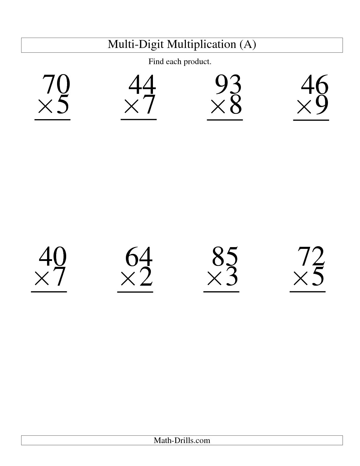 Double Digit Multiplication Worksheet Christmas