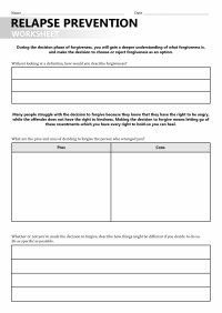 16 Best Images of Recovery Support Worksheet - Early ...