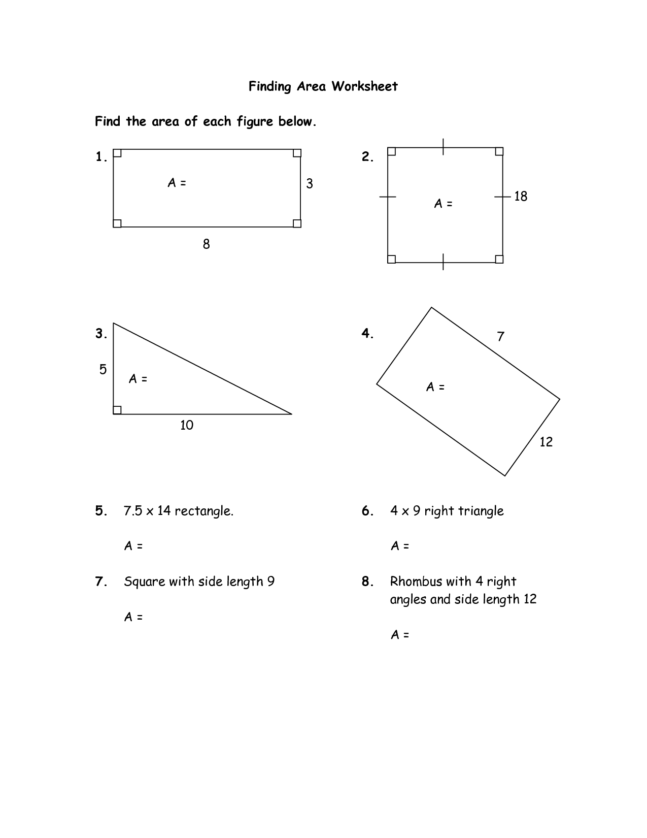 Worksheet With Volume