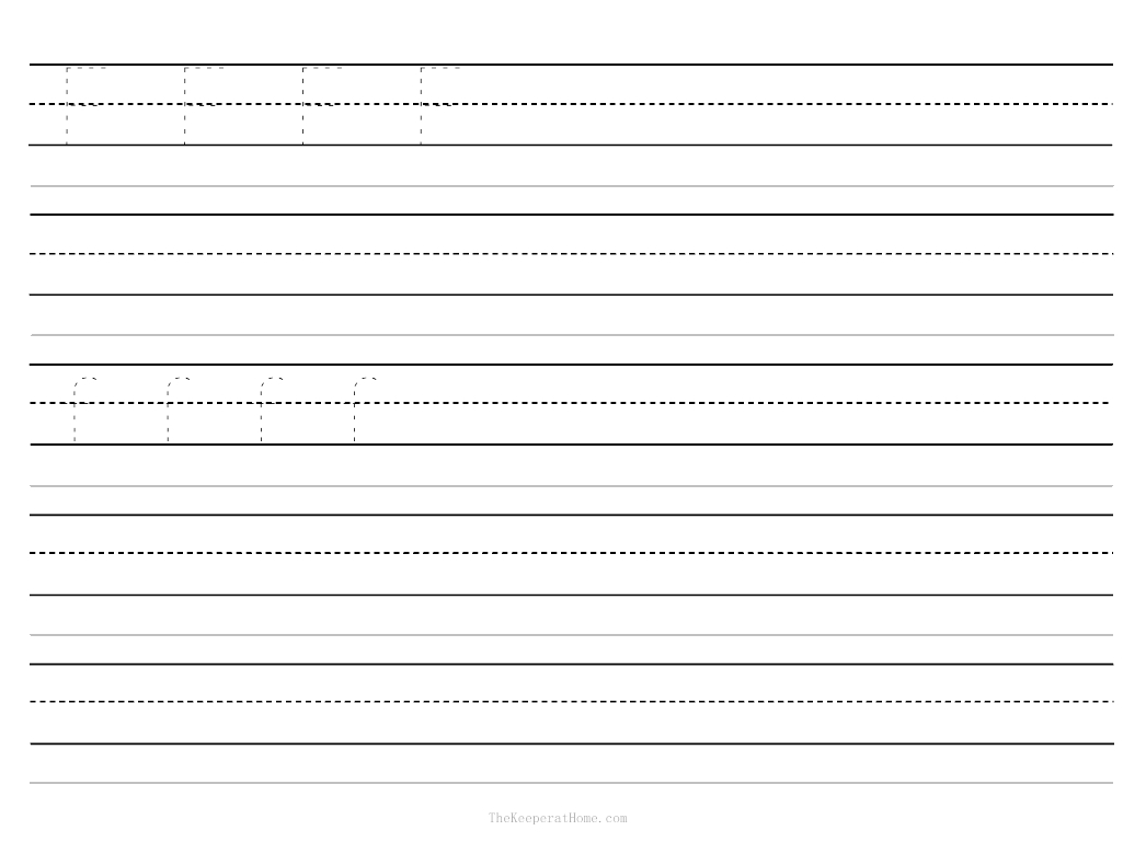 10 Best Images Of Blank Letter Practice Worksheets