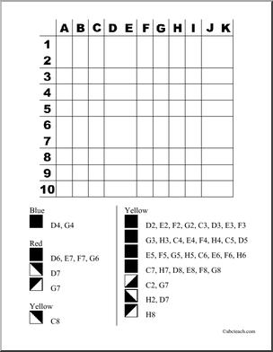 14 Best Images of Worksheets Color By Number Grid