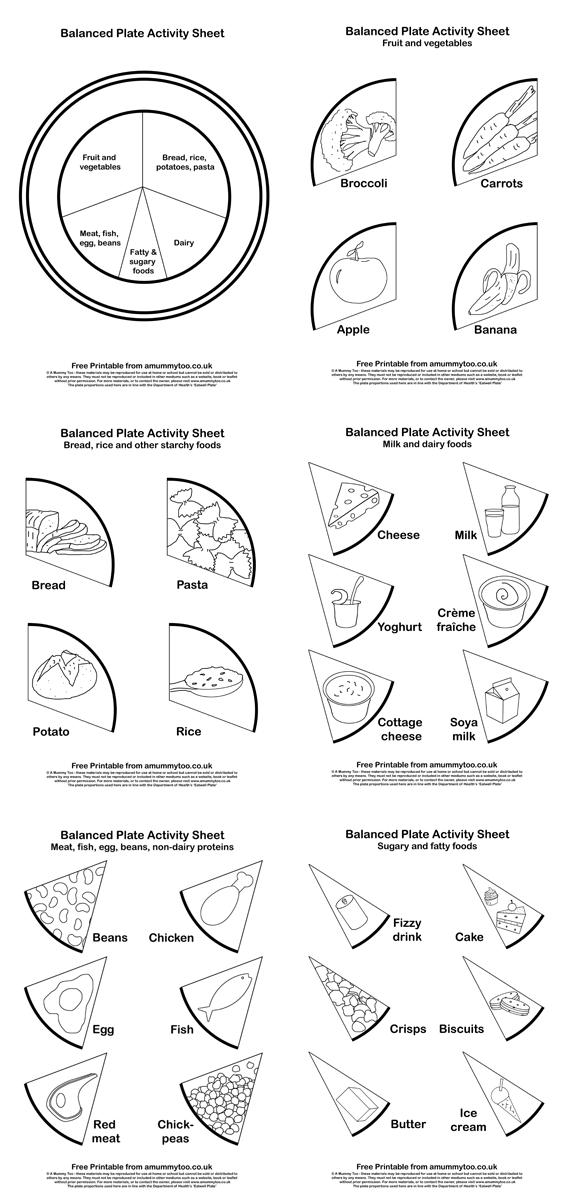 13 Best Images of Healthy Eating Plate Printable Worksheet
