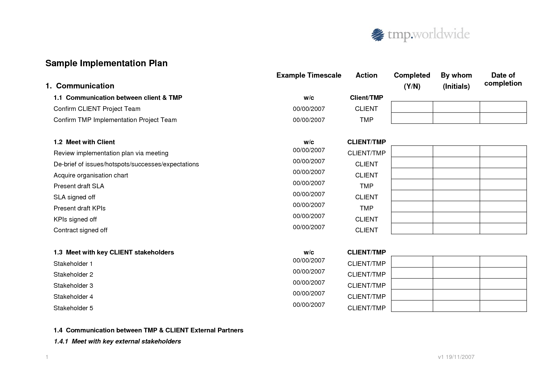 16 Best Images Of Action Plan Worksheet In Excel