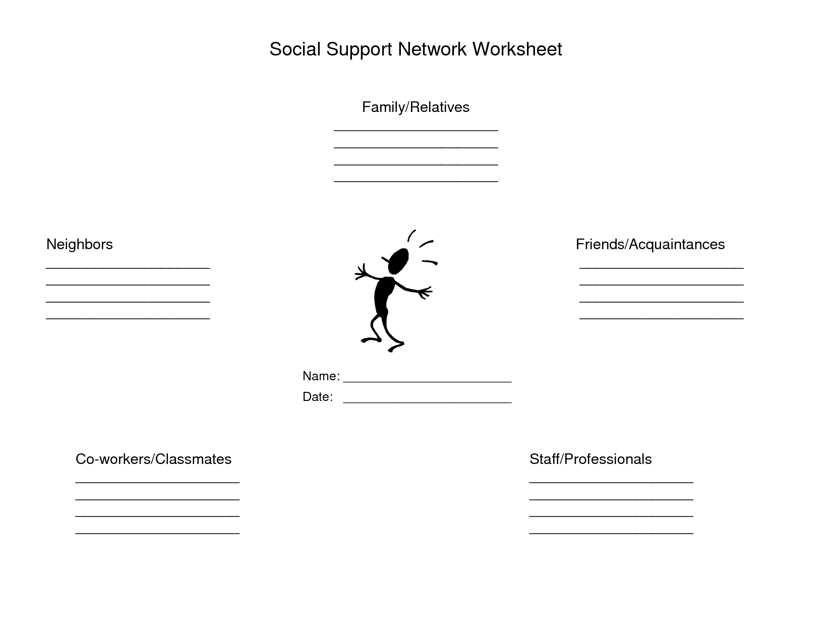 16 Best Images Of Recovery Support Worksheet
