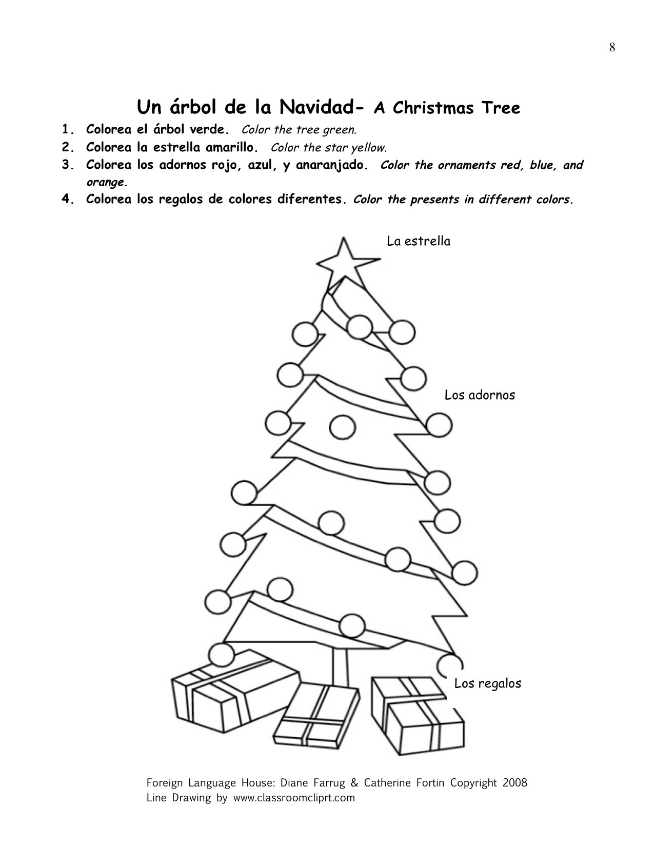 11 Best Images Of Spanish Christmas Activities Printables