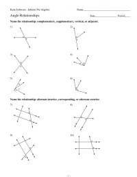 6 Best Images of Math Worksheets Complementary Angles ...