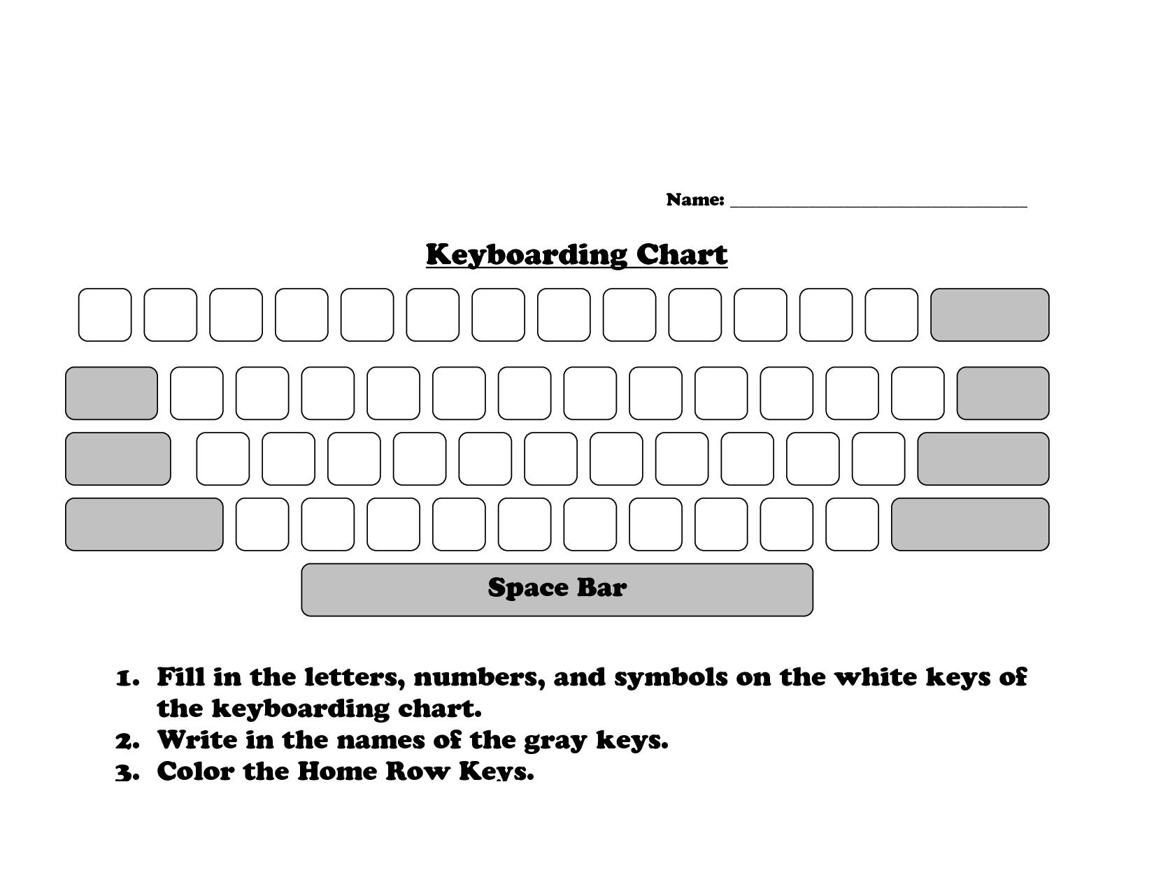 9 Best Images Of Color Keyboard Worksheet