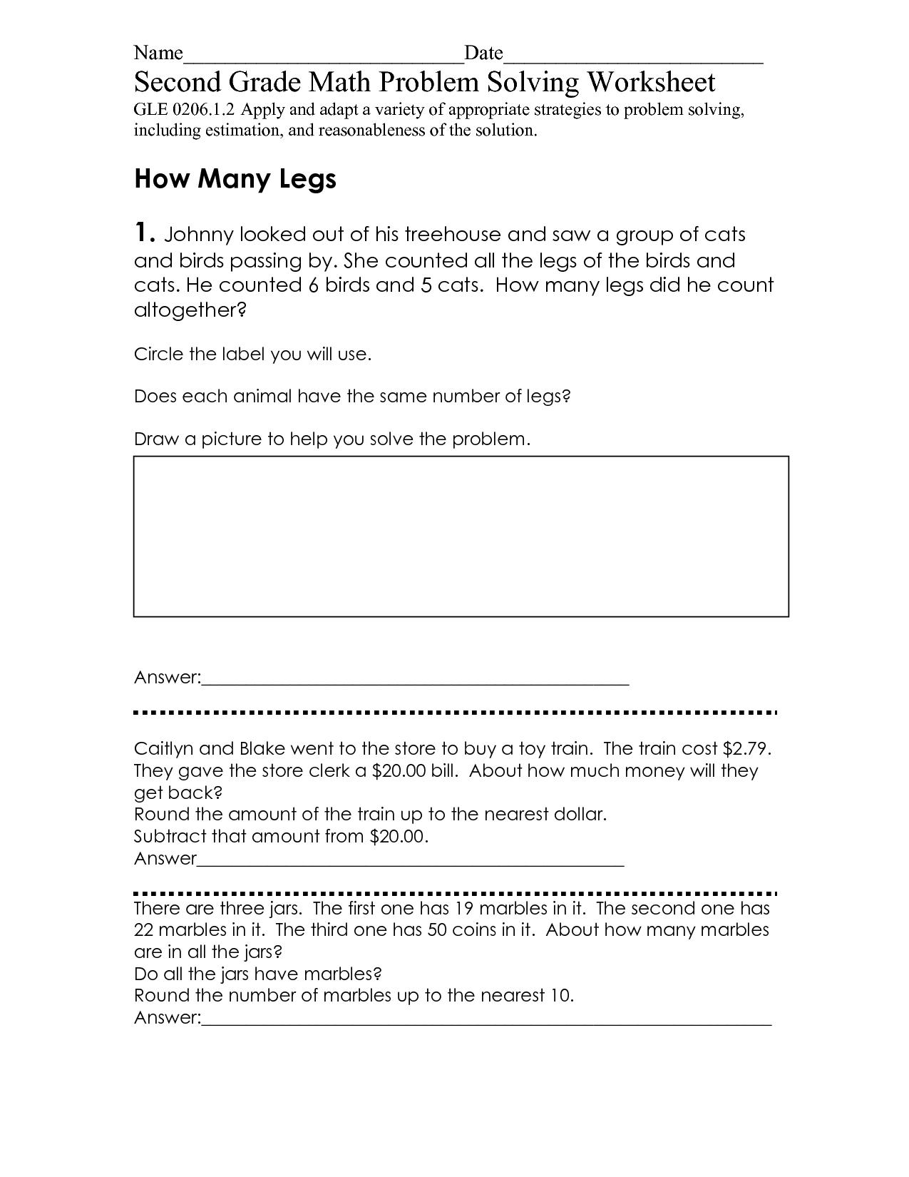 12 Best Images Of Problem Solving Worksheets Grade 4