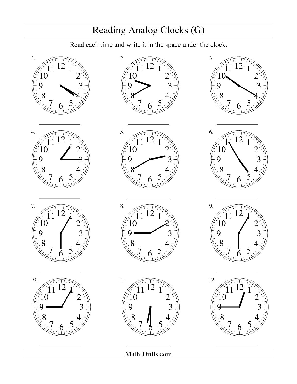 10 Best Images Of Clock Worksheets 5 Minute Intervals