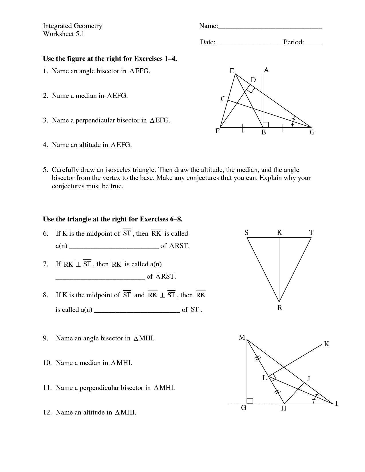 13 Best Images Of Isosceles Triangle Worksheet