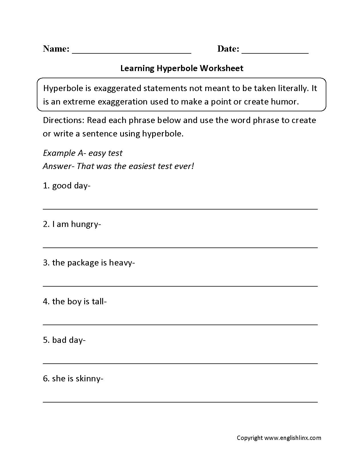 13 Best Images Of Personification Printable Worksheets