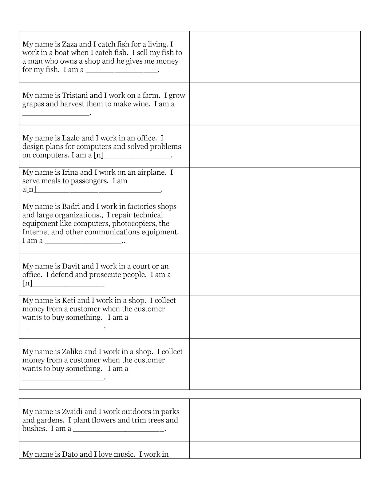 14 Best Images Of Jobs And Occupations Worksheets Word Scramble