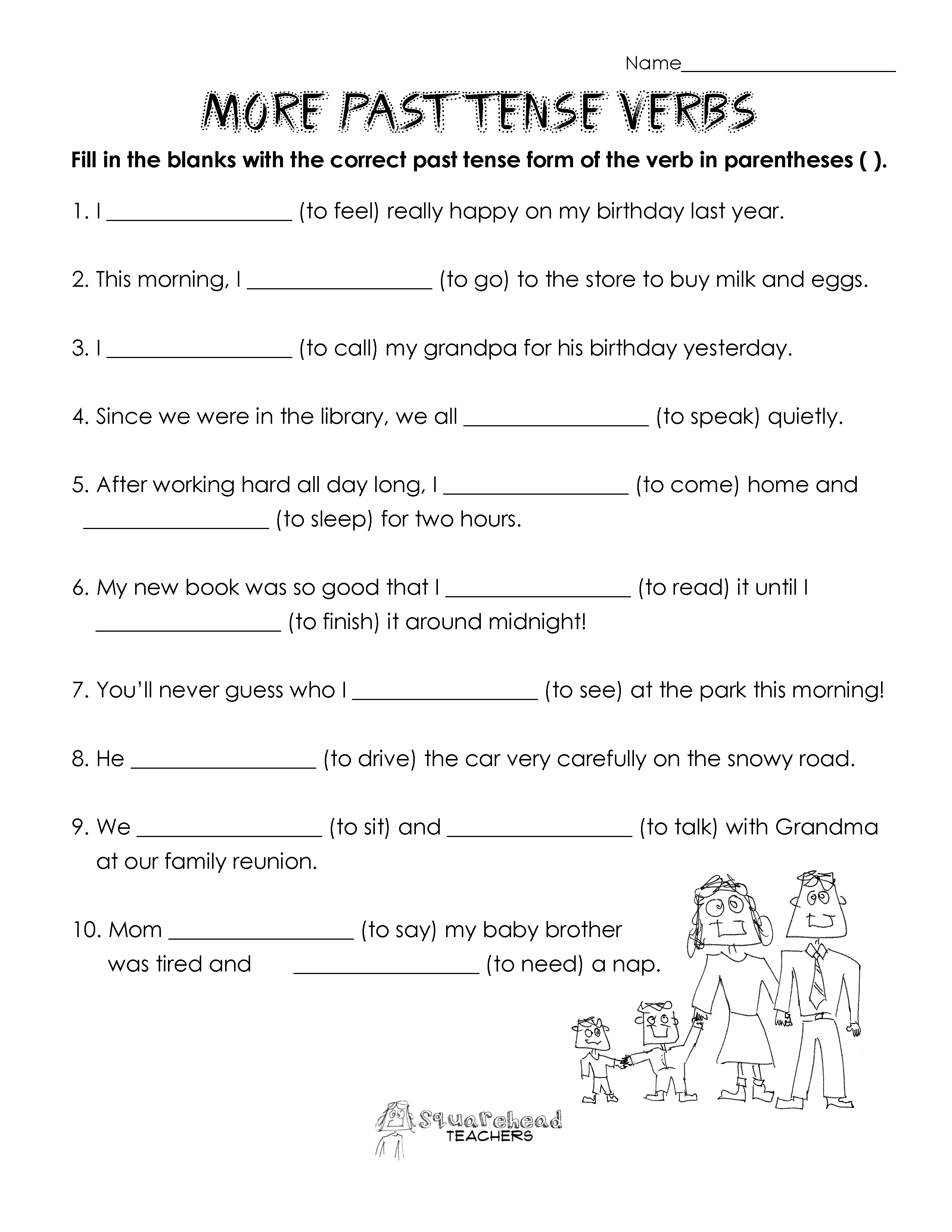 16 Best Images Of Past Tense Worksheets Free Printable
