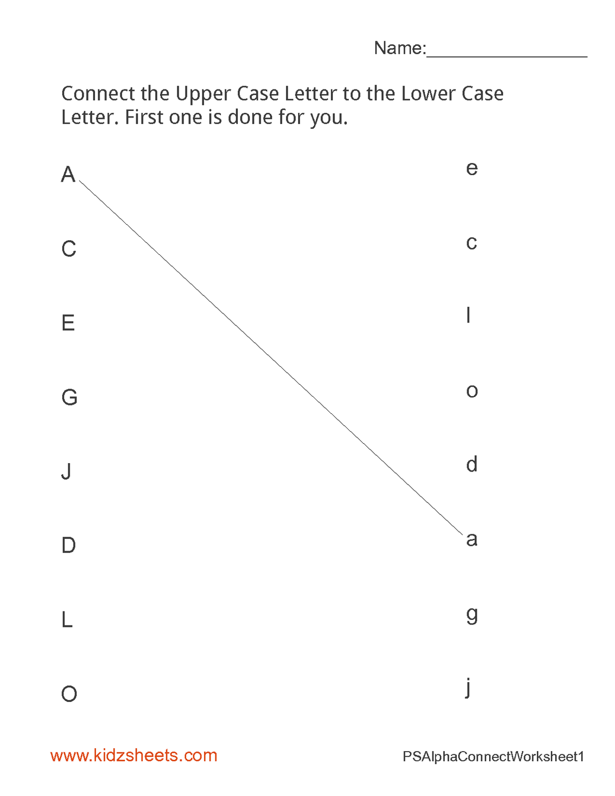 12 Best Images Of Abc Matching Worksheets