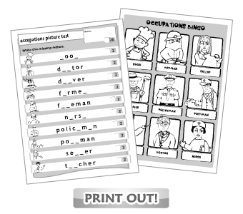 14 Best Images of Jobs And Occupations Worksheets Word
