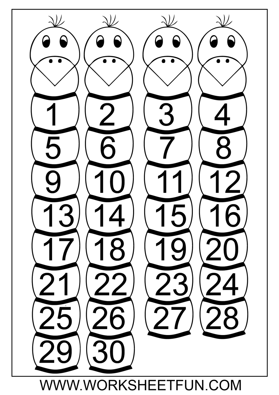 14 Best Images Of Number Recognition Worksheets 1 30