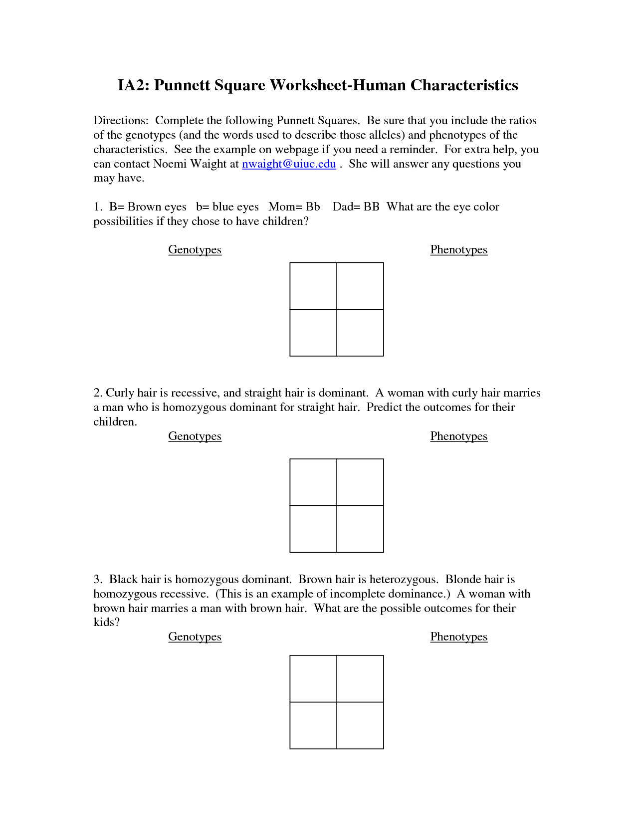 9 Best Images Of Human Genetics Worksheets
