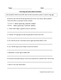 17 Best Images of Quotation Worksheets 2nd Grade ...