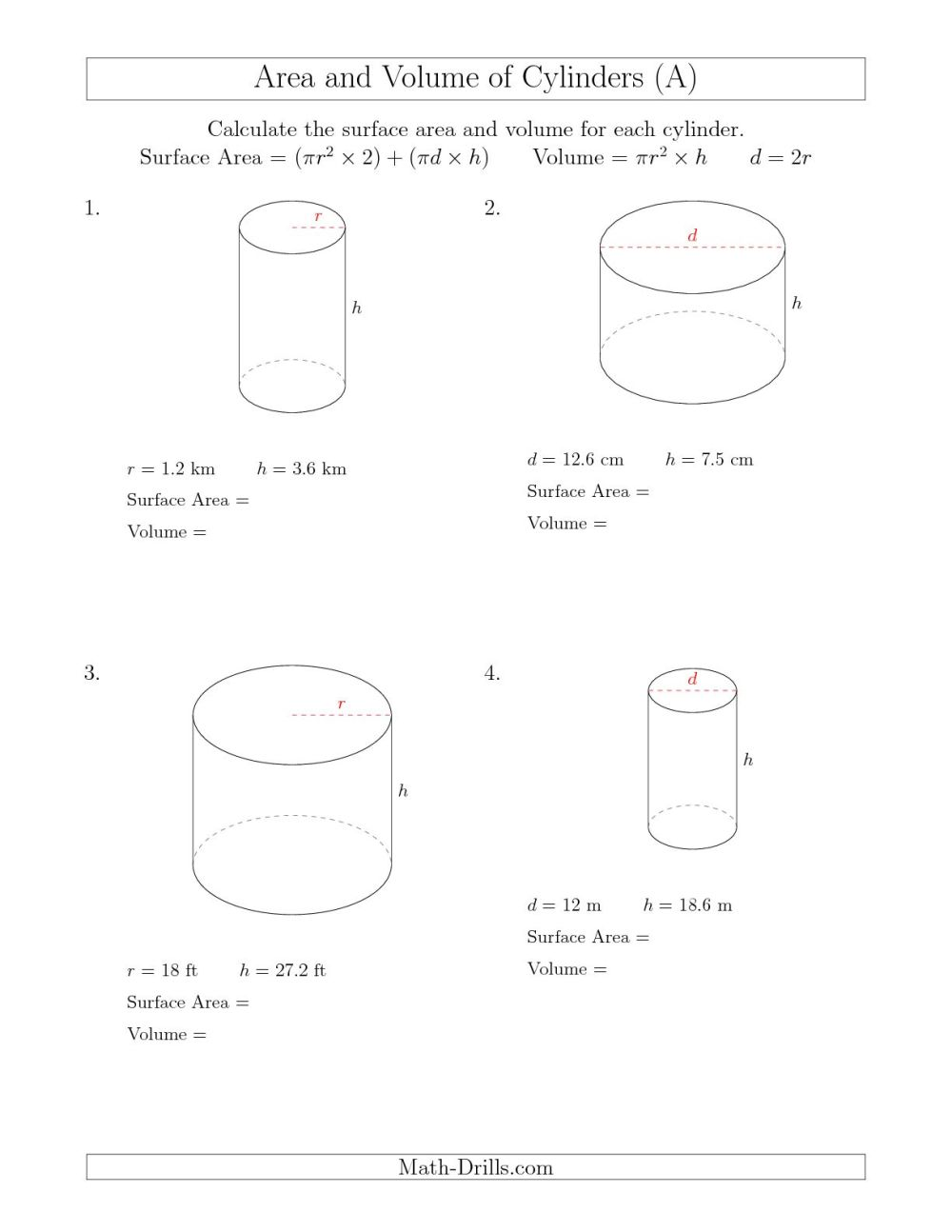 medium resolution of Math Aids Worksheets Answers Surface Area   Printable Worksheets and  Activities for Teachers