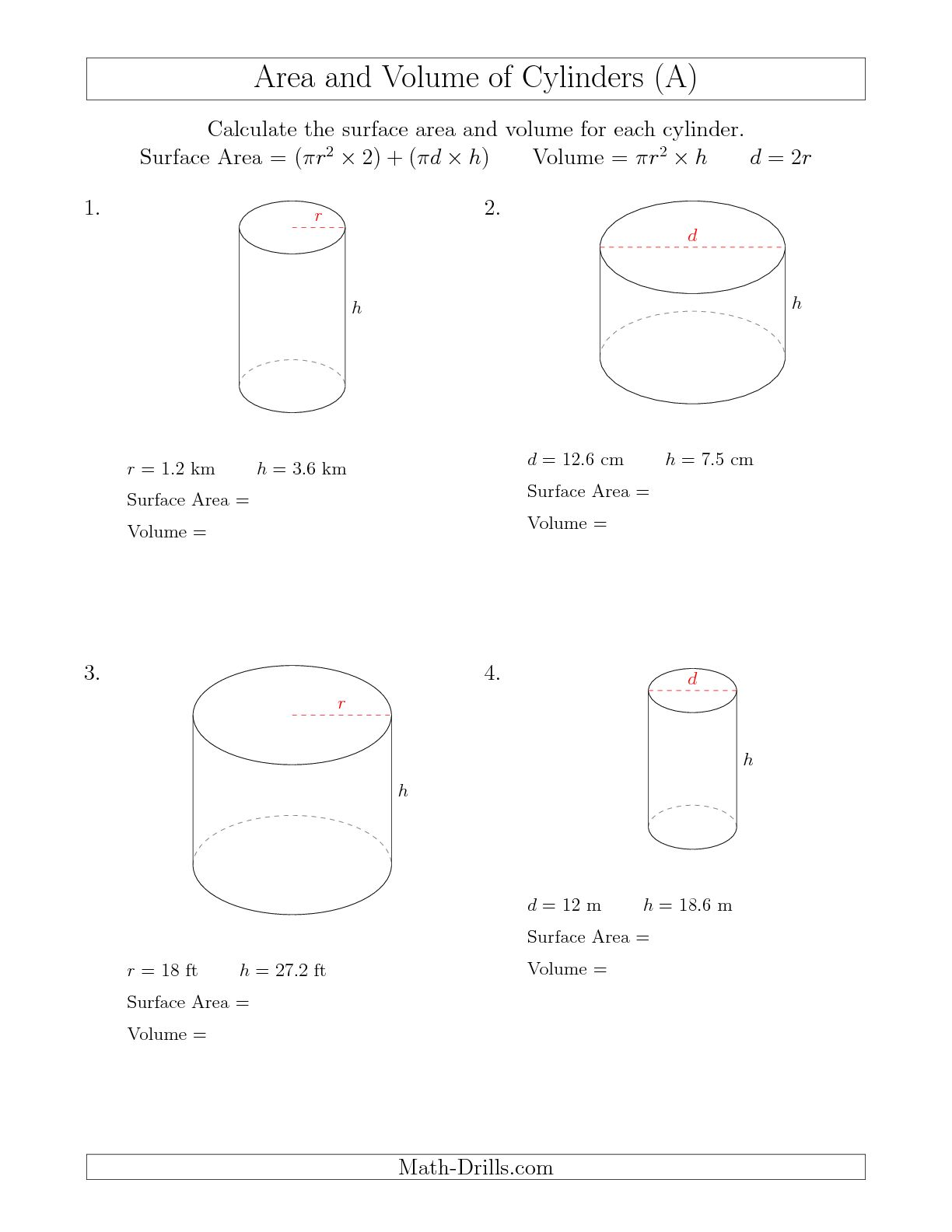 hight resolution of Math Aids Worksheets Answers Surface Area   Printable Worksheets and  Activities for Teachers