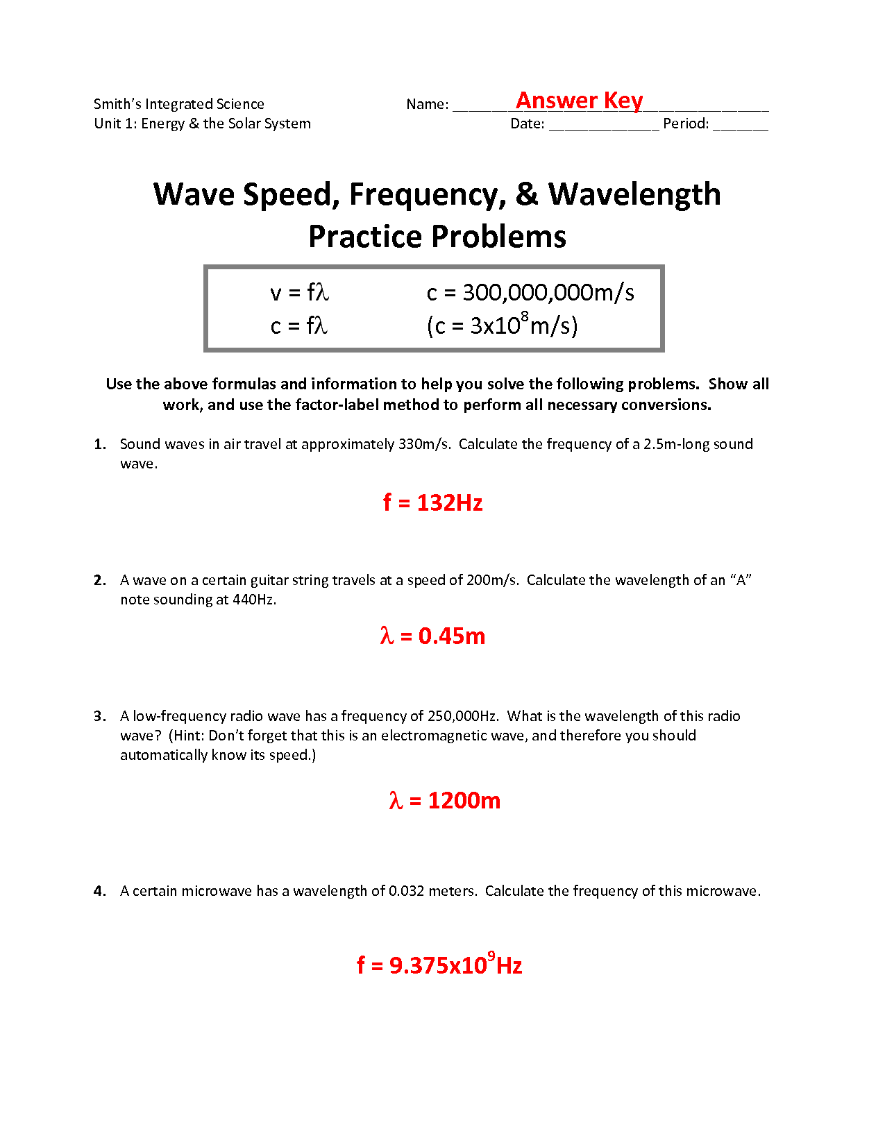 12 Best Images Of Waves Practice Worksheet