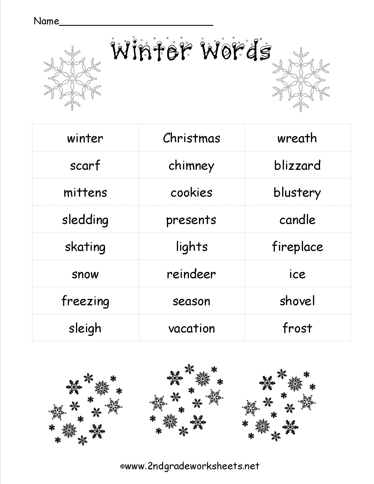 12 Best Images Of Worksheets Winter Writing