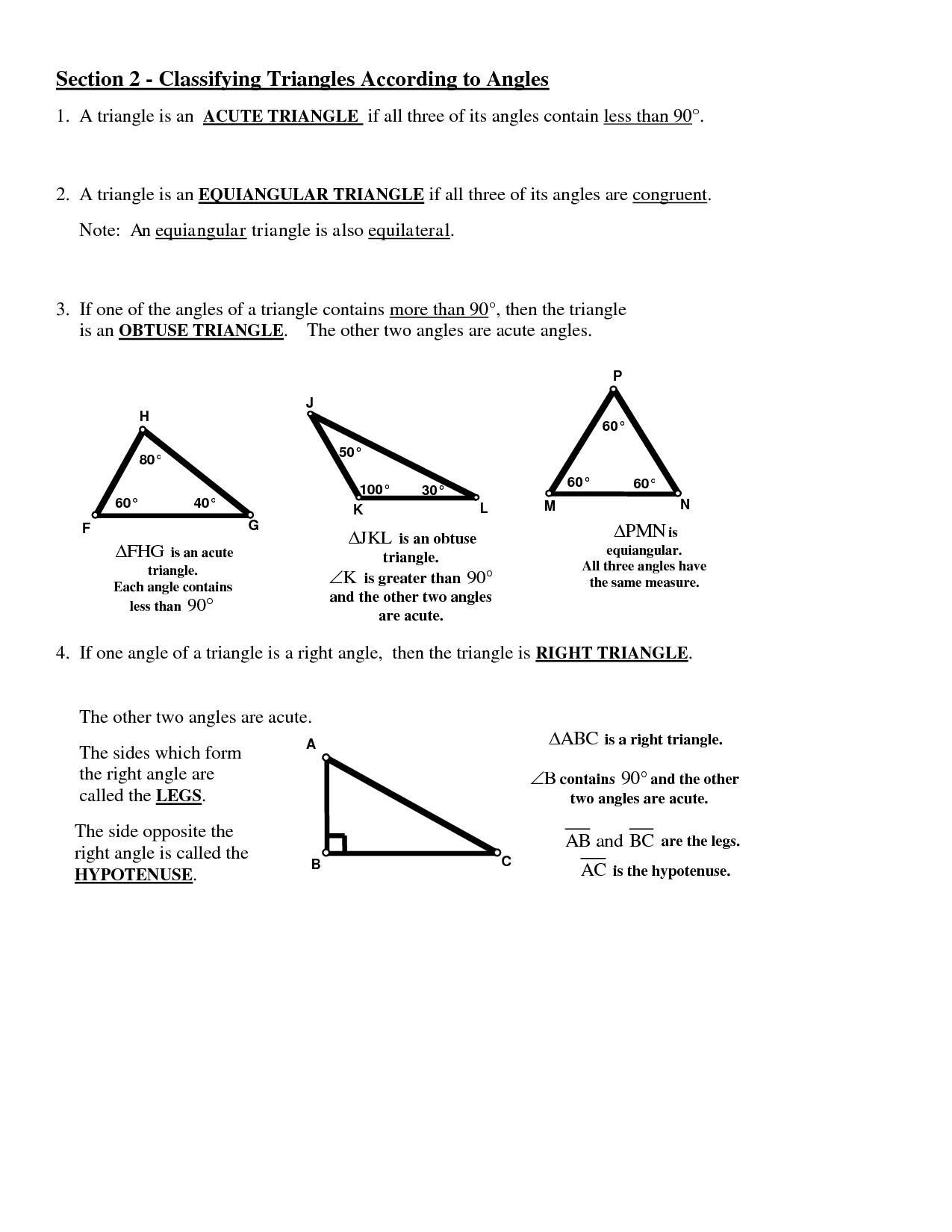 13 Best Images Of Types Of Angles Worksheet