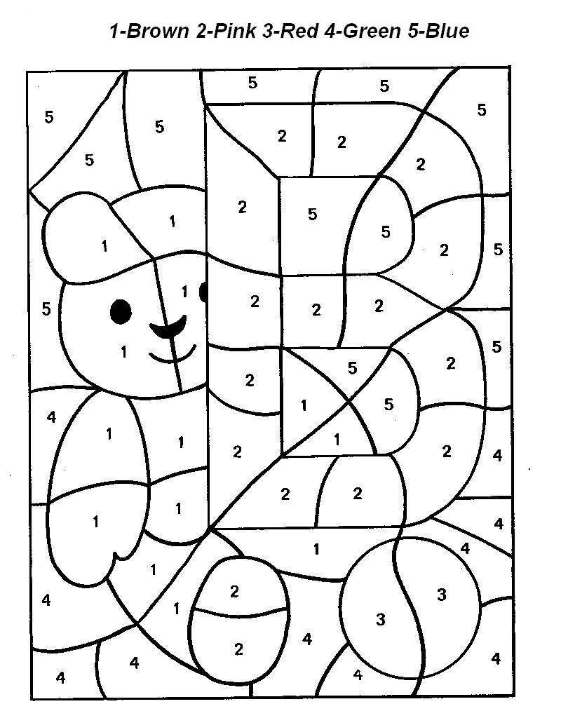 14 Best Images of Number Worksheets Color By Letters