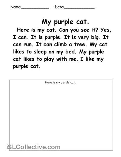 15 Best Images of Kindergarten Worksheets Listening