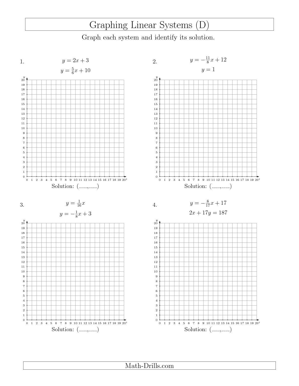 29 Graphing Linear Functions Worksheet