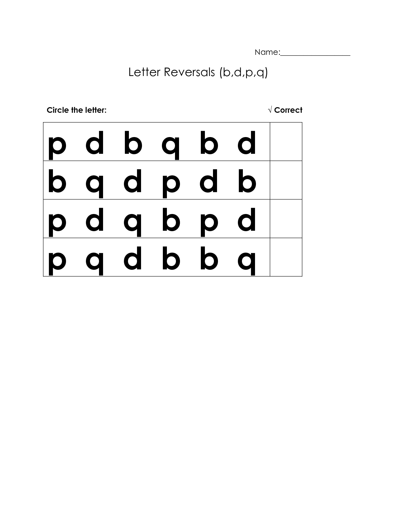 17 Best Images Of B And D Reversal Worksheets