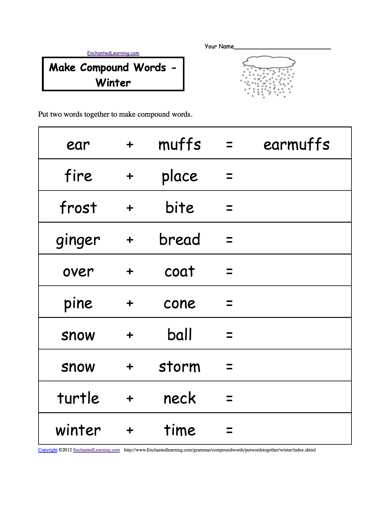 14 Best Images Of Winter Preschool Syllable Worksheets