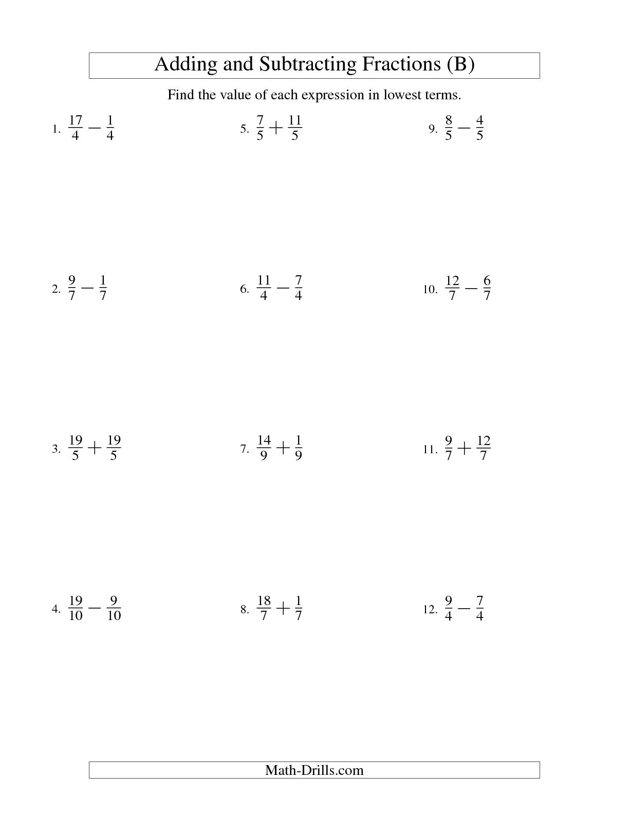 12 Best Images Of Basic First Grade Fractions Worksheets