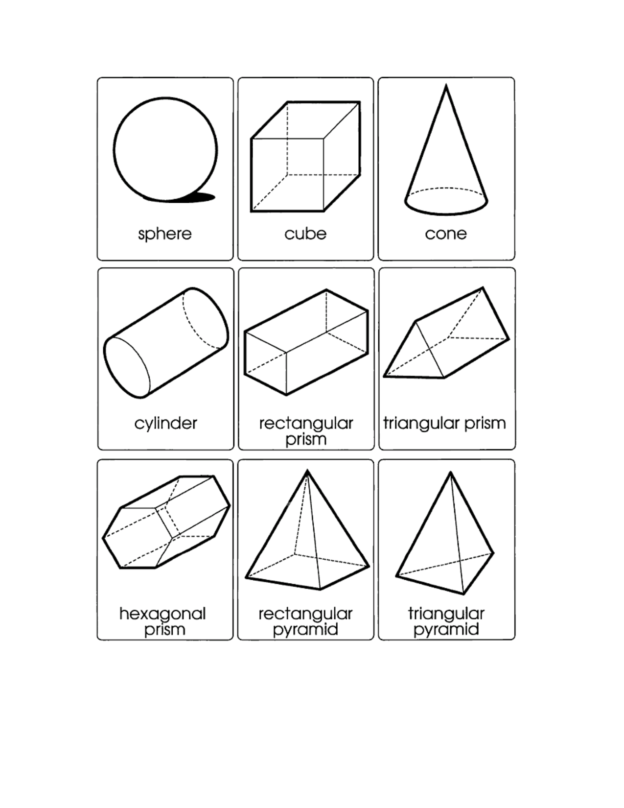 hight resolution of 2d 3d Shapes Printable Worksheets   Printable Worksheets and Activities for  Teachers