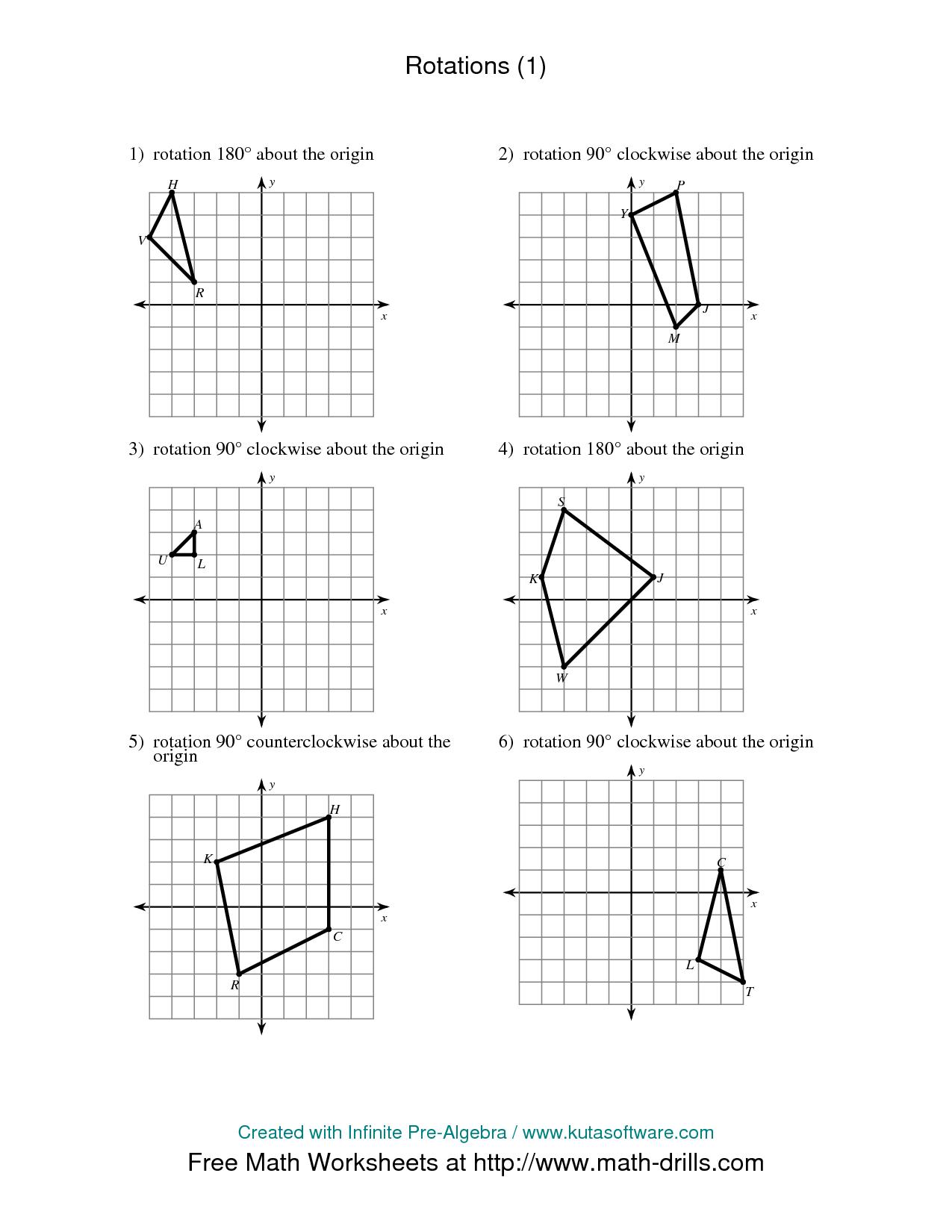 Ks3 Maths Rotation Worksheet
