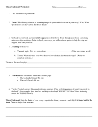 13 Best Images of High School Thesis Statement Worksheet ...