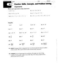 15 Best Images of Exponent Rules Worksheet - Exponents ...