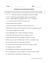 17 Best Images of Punctuation Practice Worksheets ...