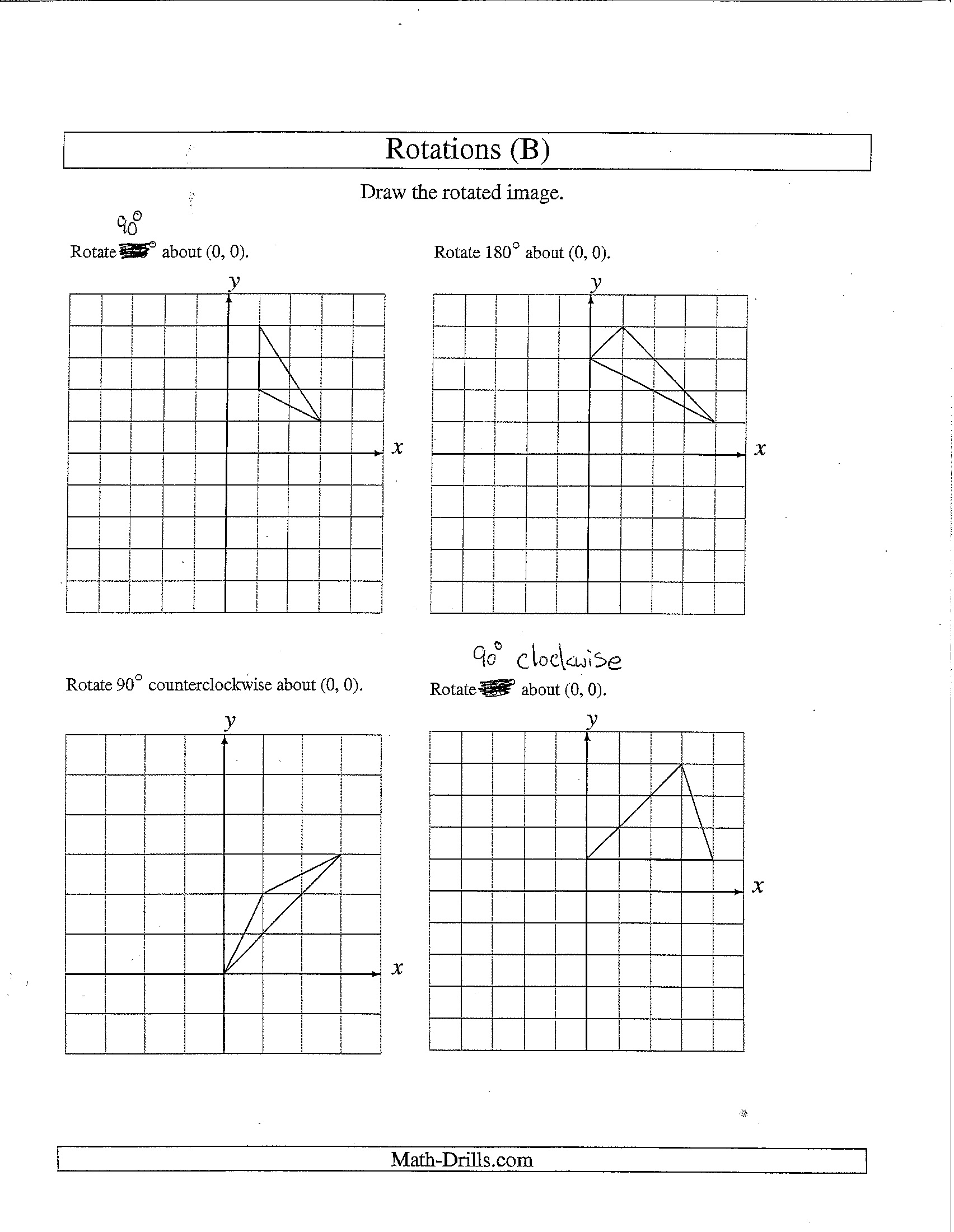 32 Rotations Worksheet 8th Grade
