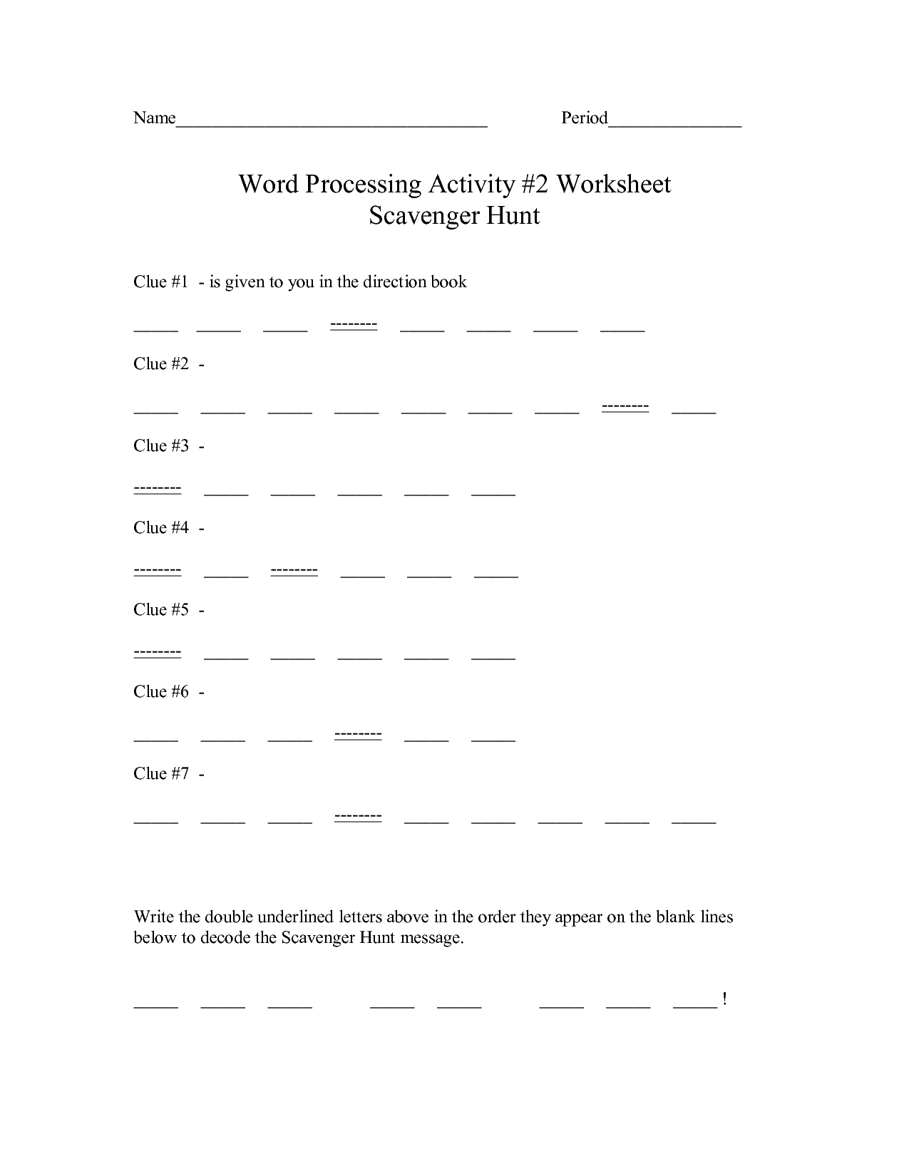 12 Best Images Of Book Scavenger Hunt Worksheet