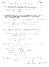 17 Best Images of Specific Heat Worksheet With Key ...